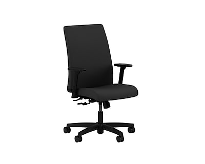 HON Ignition HONIW102WP40 Fabric Mid-Back Office/Computer Chair, Adjustable Arms, Black