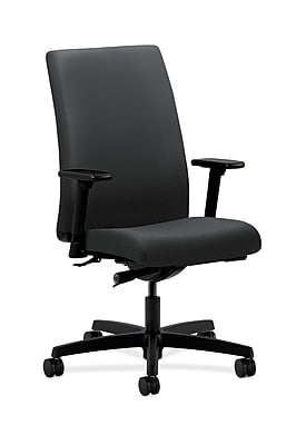 HON Ignition Fabric Computer and Desk Office Chair, Adjustable Arms, Charcoal (HONIW114NT19)