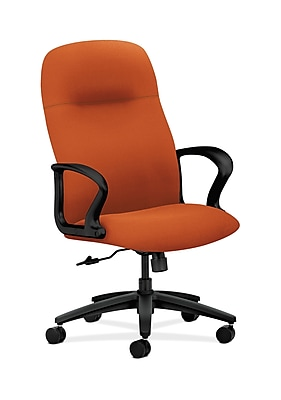 HON Gamut Wood Executive Office Chair, Fixed Arms, Tangerine (HON2071CU46T)