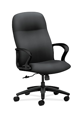 HON Gamut Fabric Executive Office Chair, Fixed Arms, Gray/Silver (HON2071NR10T)