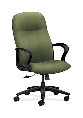 HON Gamut Fabric Executive Office Chair, Fixed Arms, Green (HON2071NR74T)