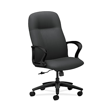 HON Gamut Fabric Executive Office Chair, Fixed Arms, Charcoal (HON2071NT19T)