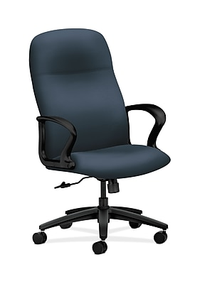 HON Gamut Wood Executive Office Chair, Fixed Arms, Jet (HON2071SX05T)