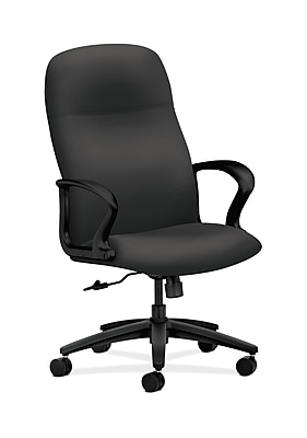 HON Gamut Wood Executive Office Chair, Fixed Arms, Carbon Fabric (HON2071SX23T)