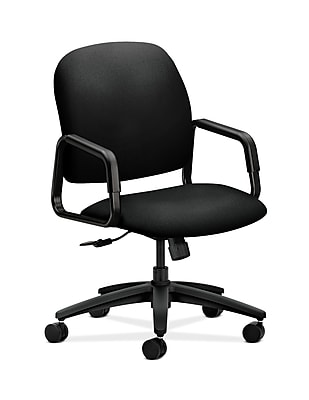 HON Solutions Seating Plastic Executive Office Chair, Fixed Arms, Black (HON4001CU10T)