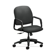 HON Solutions Seating Plastic Executive Office Chair, Fixed Arms, Iron Ore (HON4001CU19T)