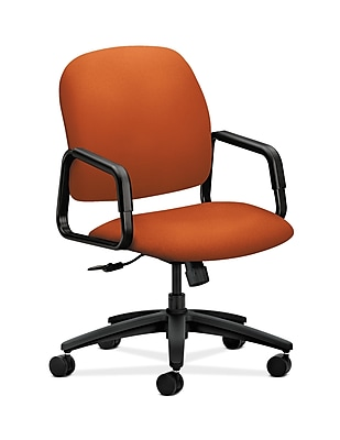 HON Solutions Seating Plastic Executive Office Chair, Fixed Arms, Tangerine (HON4001CU46T)