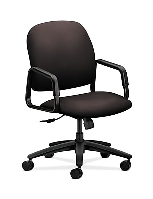 HON Solutions Seating Plastic Executive Office Chair, Fixed Arms, Espresso (HON4001CU49T)