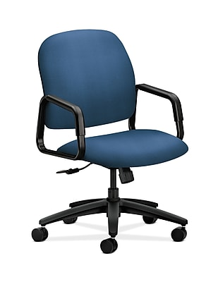 HON Solutions Seating Fabric Executive Office Chair, Fixed Arms, Regatta (HON4001NR90T)