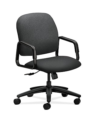 HON Solutions Seating Plastic Executive Office Chair, Fixed Arms, Charcoal (HON4001NT19T)