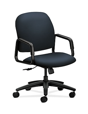 HON Solutions Seating Plastic Executive Office Chair, Fixed Arms, Navy (HON4001WP37T)