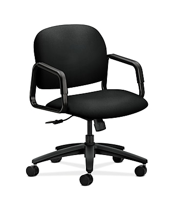 HON Solutions Seating Fabric Computer and Desk Office Chair, Fixed Arms, Black (HON4002CU10T)