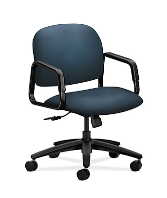 HON Solutions Seating Fabric Computer and Desk Office Chair, Fixed Arms, Cerulean (HON4002CU90T)