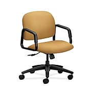 HON HON4002NR26T Solutions Seating Mid-Back Office/Computer Chair, Fixed Arms, Mustard Fabric