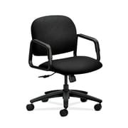 HON  HON4002NT10T Solutions Seating  Fabric-Upholstered Mid-Back Office/Computer Chair, Fixed Arms, Black