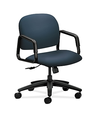 HON Solutions Seating Fabric Computer and Desk Office Chair, Fixed Arms, Jet (HON4002SX05T)