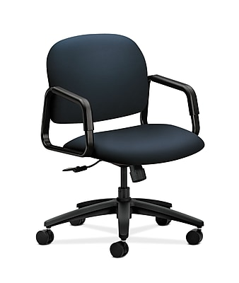 HON Solutions Seating Fabric Computer and Desk Office Chair, Fixed Arms, Navy (HON4002WP37T)