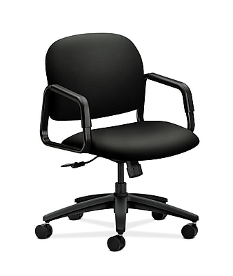 HON Solutions Seating Fabric Computer and Desk Office Chair, Fixed Arms, Black (HON4002WP40T)
