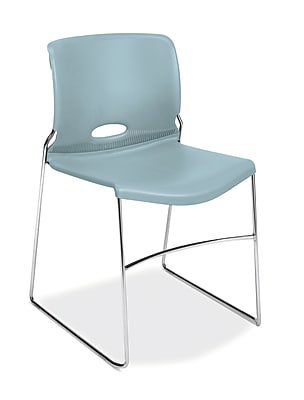 HON Olson Stacker High-Density Steel Stacking Chair, Surf Shell, 4/Carton (HON4041BU)