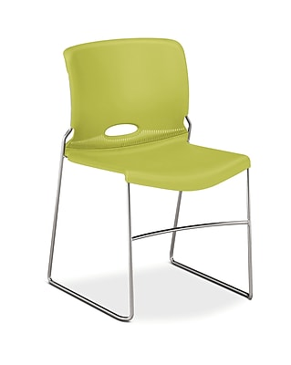 HON Olson Stacker High-Density Steel Stacking Chair, Lime Shell, 4/Carton (HON4041LM)