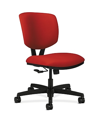 HON Volt Fabric Computer and Desk Office Chair, Armless, Tomato (HON5721CU66T)