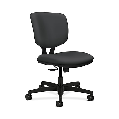 HON Volt Fabric Computer and Desk Office Chair, Armless, Black (HON5723HSX23T)