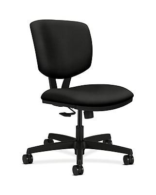 HON Volt Fabric Computer and Desk Office Chair, Armless, Black (HON5723HWP40T)