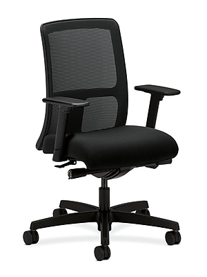 HON Ignition Mesh Computer and Desk Office Chair, Adjustable Arms, Black (HONIT102AB10)