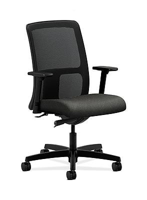 HON Ignition Fabric Computer and Desk Office Chair, Adjustable Arms, Gray (HONIT102AB12)