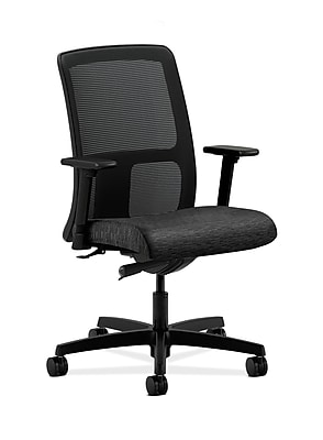 HON Ignition Plastic Computer and Desk Office Chair, Adjustable Arms, Onyx (HONIT102AI10)
