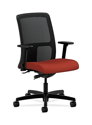 HON Ignition Fabric Computer and Desk Office Chair, Adjustable Arms, Poppy (HONIT102CU42)