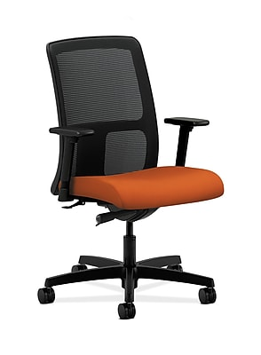 HON Ignition Fabric Computer and Desk Office Chair, Adjustable Arms, Tangerine (HONIT102CU46)