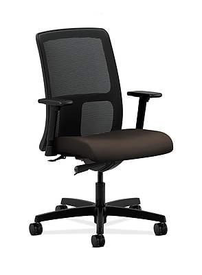 HON Ignition Fabric Computer and Desk Office Chair, Adjustable Arms, Espresso (HONIT102CU49)