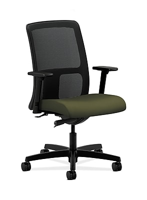 HON Ignition Fabric Computer and Desk Office Chair, Adjustable Arms, Green (HONIT102CU82)