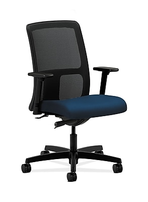 HON Ignition Fabric Computer and Desk Office Chair, Adjustable Arms, Blue (HONIT102NT90)