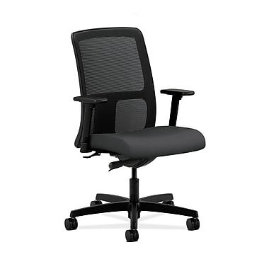HON Ignition Fabric Computer and Desk Office Chair, Adjustable Arms, Carbon Fabric (HONIT102SX23)