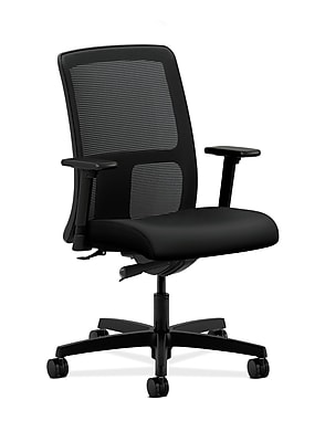 HON Ignition Fabric Computer and Desk Office Chair, Adjustable Arms, Black (HONIT102UR10)