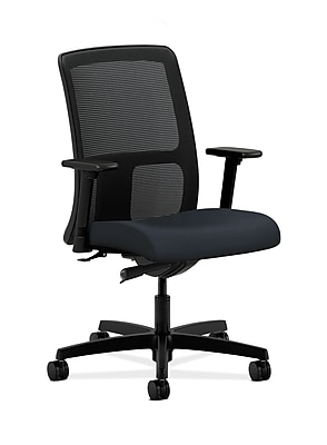 HON Ignition Fabric Computer and Desk Office Chair, Adjustable Arms, Navy (HONIT102WP37)