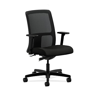 HON HONIT102WP40 Ignition Mesh Low-Back Office/Computer Chair, Adjustable Arms, Black Fabric