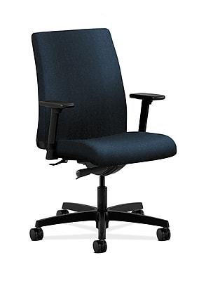 HON Ignition Fabric Computer and Desk Office Chair, Adjustable Arms, Blue (HONIT103AB90)