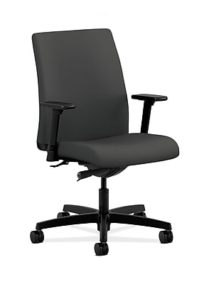 HON Ignition Fabric Computer and Desk Office Chair, Adjustable Arms, Iron Ore (HONIT103CU19)