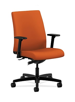 HON Ignition Fabric Computer and Desk Office Chair, Adjustable Arms, Black (HONIT103CU46)
