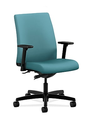HON Ignition HONIT103CU96 Glacier Upholstery Low-Back Office/Computer Chair with Adjustable Arms
