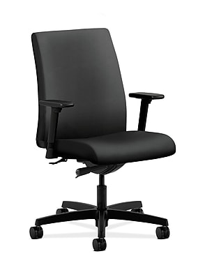 HON HONIT103NR10 Ignition Low-Back Office/Computer Chair, Adjustable Arms, Onyx Fabric