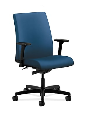 HON Ignition Fabric Computer and Desk Office Chair, Adjustable Arms, Regatta (HONIT103NR90)