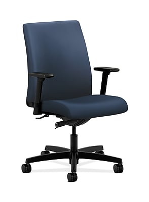 HON Ignition Fabric Computer and Desk Office Chair, Adjustable Arms, Ocean (HONIT103UR96)
