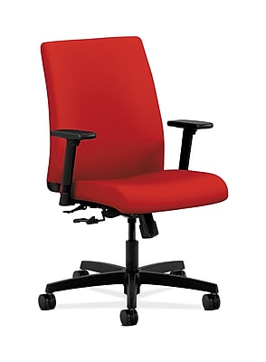 HON Ignition Fabric Computer and Desk Office Chair, Adjustable Arms, Tomato (HONIT105CU66)