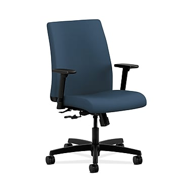 HON Ignition Fabric Computer and Desk Office Chair, Adjustable Arms, Jet (HONIT105SX05)