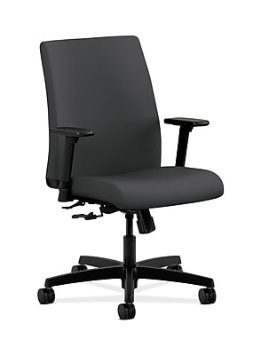 HON Ignition Fabric Computer and Desk Office Chair, Adjustable Arms, Carbon Fabric (HONIT105SX23)