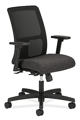 HON HONIT106AI10 Ignition Mesh Low-Back Office/Computer Chair, Adjustable Arms, Onyx Fabric